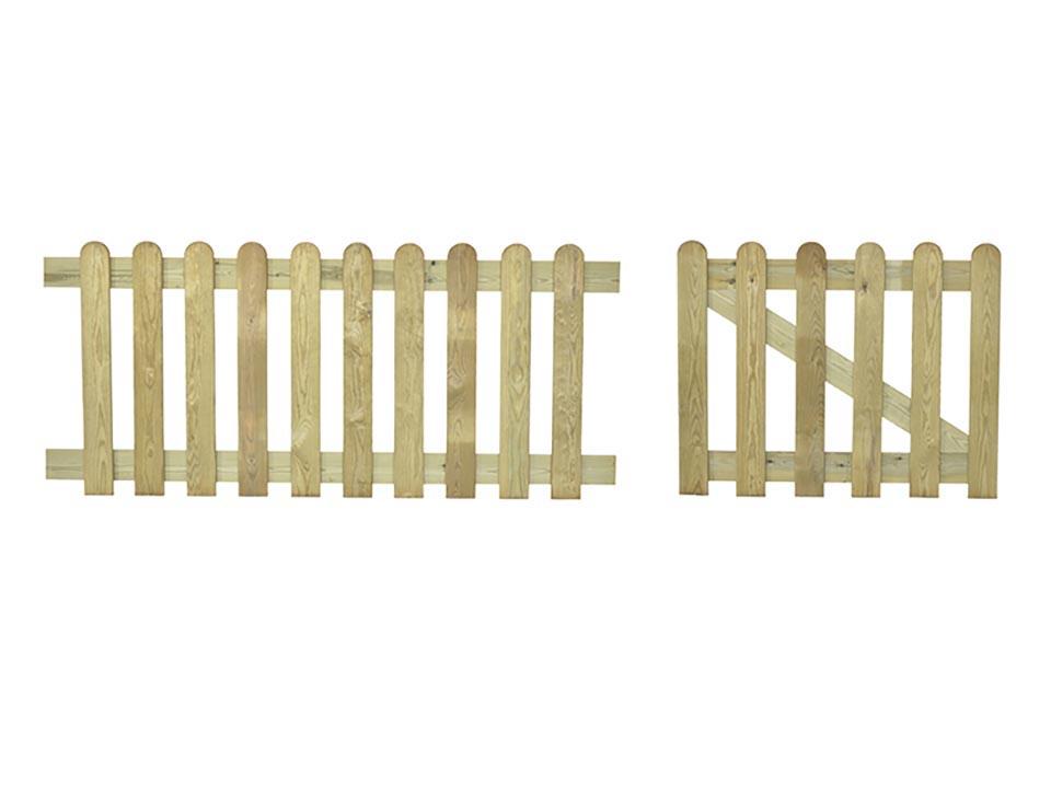 valla infantil de madera